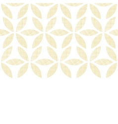 Abstract textile beige leaves horizontal seamless vector