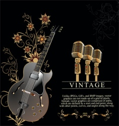 Guitar and microphone vector