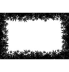 Marijuana frame vector