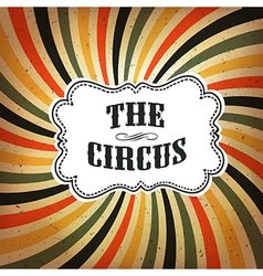 Circus retro rays background vector