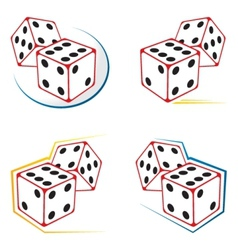 Dices icons vector