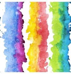 Watercolor colourful stripes vector
