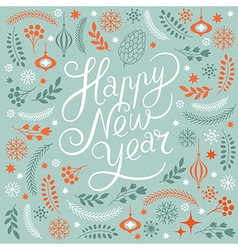 Happy new years lettering vector