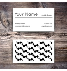 Business card template with creative white and vector