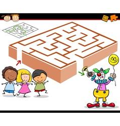 Cartoon maze or labyrinth game vector