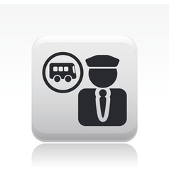 Bus driver icon vector