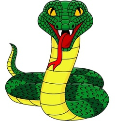 Angry cobra cartoon vector