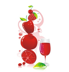 Berry beverage vector