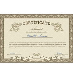Vintage diploma vector