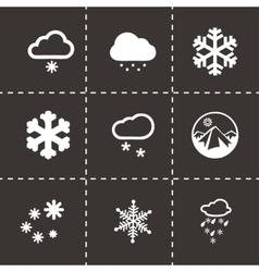 Snow icon set vector