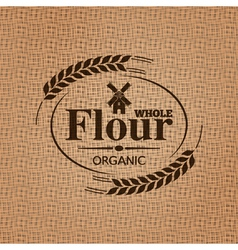 Flour sackcloth texture background vector