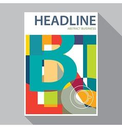 Flat design magazine cover flyer brochure vector