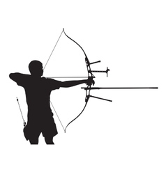 Silhouette of archer vector