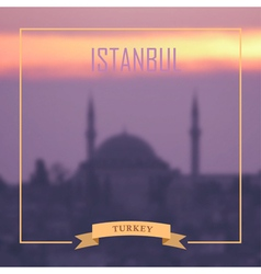 Istanbul background vector