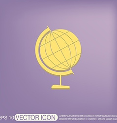 Globe symbol icon geography vector