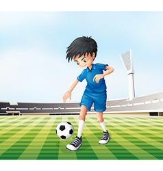 Cartoon soccer player vector