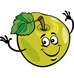 Funny apple fruit cartoon vector