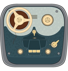 The old reel to reel audio tape recording vector