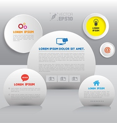 Circle group with icons vector