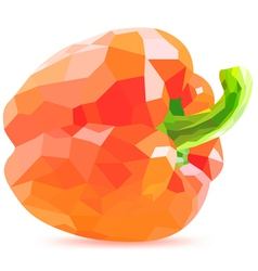 Low poly red bell pepper vector