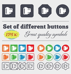 35 mm negative films icon sign big set of colorful vector