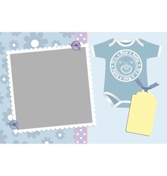 Cute template for babys card vector