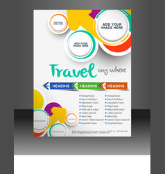 Travel flyer template vector