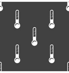 Thermometer web icon flat design seamless gray vector