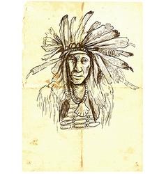 Indian - an hand drawn vector