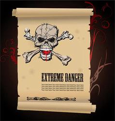 Skull extreme danger vector