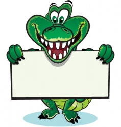 Cute crocodile mascot vector