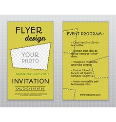Summer yellow stylish flyer and brochure vector