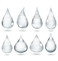 Opaque gray drops vector