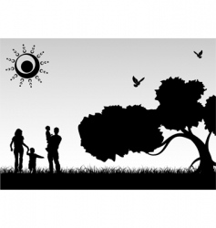 Silhouette family vector