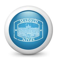Madrid postage icon vector
