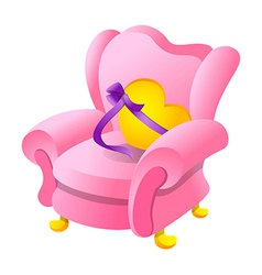 Icon sofa and gift vector