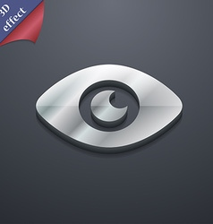Eye publish content icon symbol 3d style trendy vector