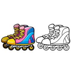 Rollerskates vector