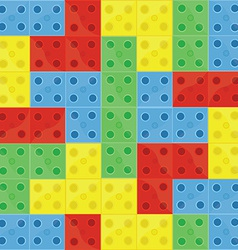 Pattern colorfull building blocks vector