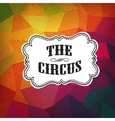 Circus triangle retro background vector