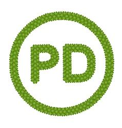 A four leaf clover of public domain sign vector