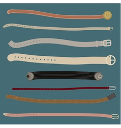 Set of different stylish belts vector