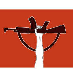 Armed revolution vector