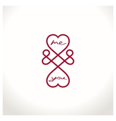 Infinite love symbol vector