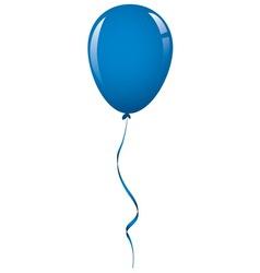 Dark blue balloon ribbon vector