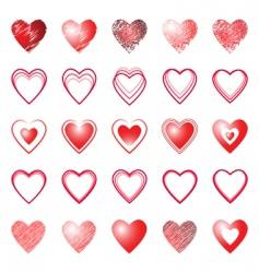 Heart icons design elements set vector