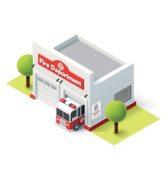 Isometric fire department vector