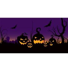 Halloween celebration in the garden vector