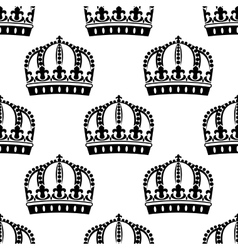 Medieval royal crowns seamless pattern vector