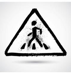 Grunge road sign vector